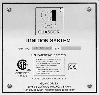 Guascor Ignition System 7664317 Data Table